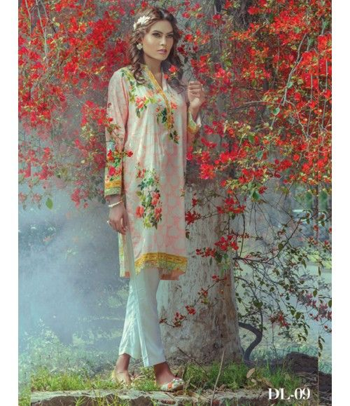Digital Lawn- Summer Fantacy Kurti Collection By Alkaram DL_09