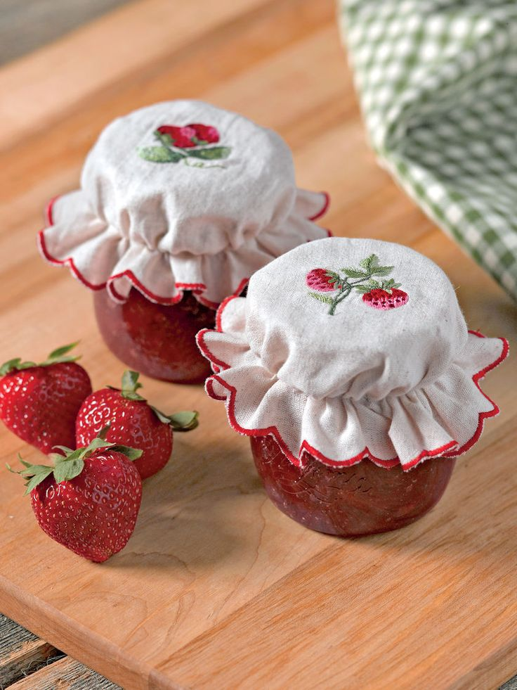 Jam Jar Toppers from Gardener's Supply -- Adorable!!!