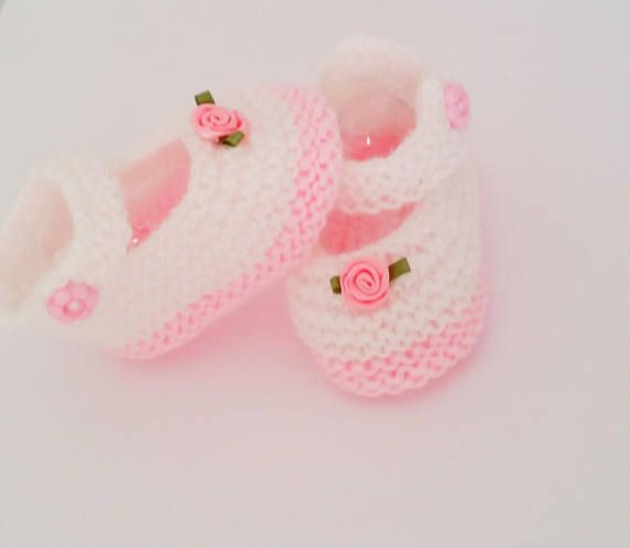 Pink Hand Crochet Mary Jane Shoes For The My Size Barbie Doll