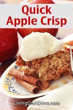 Quick Apple Crisp Recipe