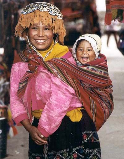 Lovely mother-n-child from Cuzco, Peru.