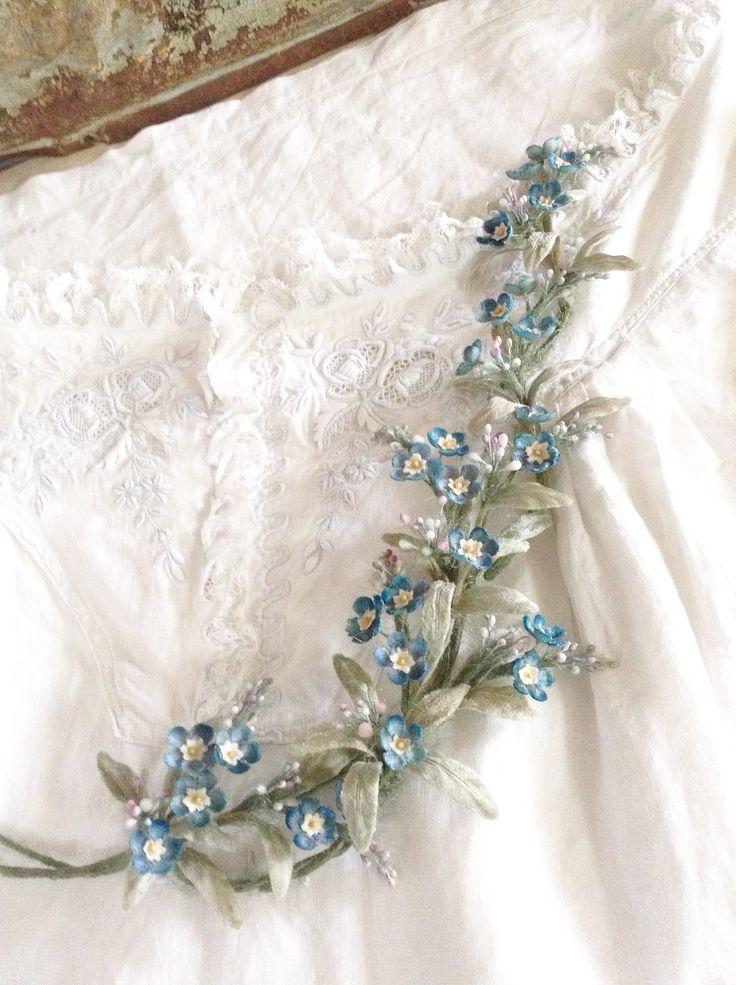 イメージ1 - 古い布花から学ぶ * 勿忘草の作り方の画像 - 布花 haru7日記 - Yahoo!ブログ
