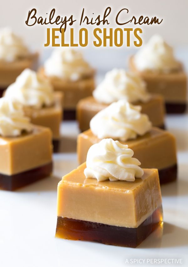 5-Ingredient Baileys Irish Cream Jello Shots Recipe #SaintPatricksDay