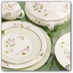 Aynsley China Cherry Blossom 5Pc Place Setting