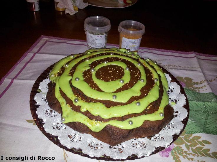 Mr & Mrs Cake decorazioni torte e dolci torta al cacao con crema di pistacchio