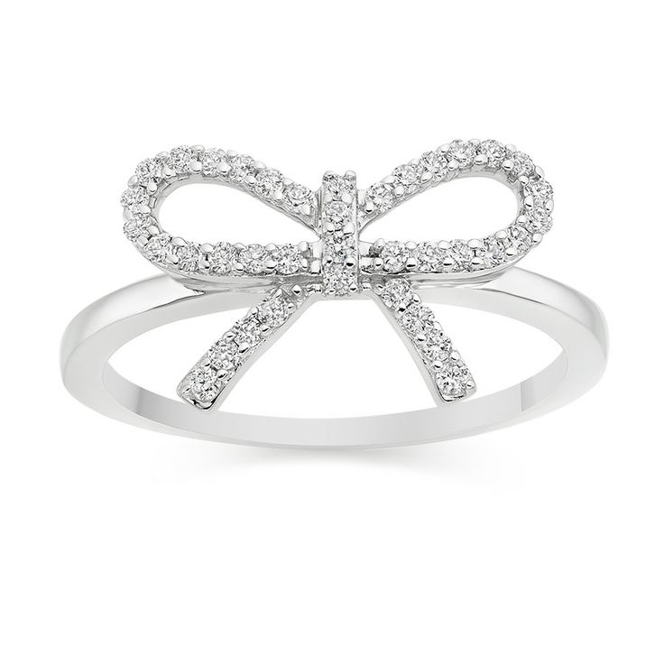 Diamond Bow Ring  £409 Vashi.com