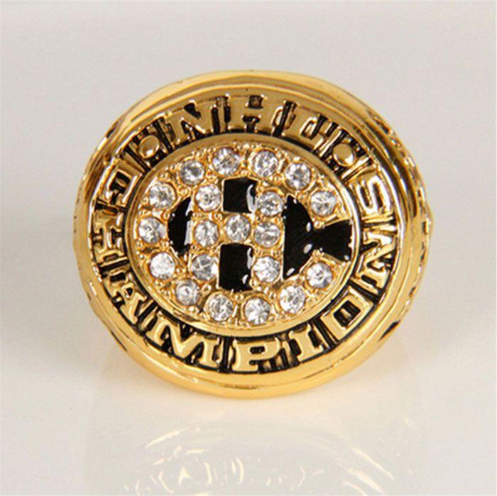 Оптовая продажа 1977 се хоккей монреаль канадиенс сплава цинка 24 К позолоченные обычай спортивные реплика вентиляторы чемпионат мира кольцо