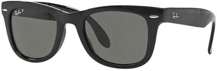 Ray-Ban Polarized Sunglasses, RB4105 54 Folding Wayfarer
