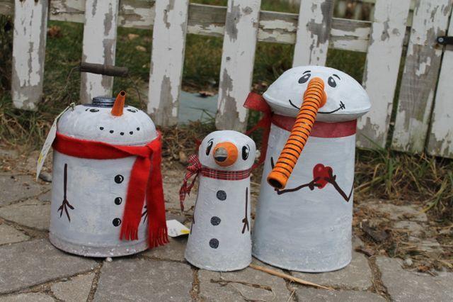 Grappige sneeuwmannen