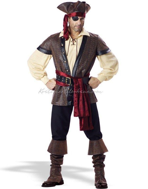 Rustik Elite Voksen Pirat Kostume