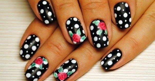 10 Eye Catching Floral Nails Art Ideas You Must See-10  Eye Catching Floral Nails Art Ideas You Must See