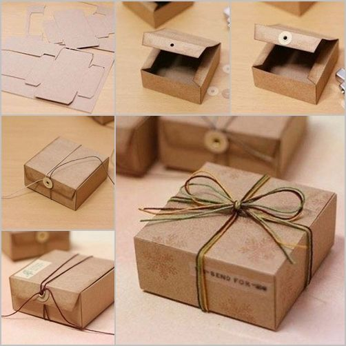 brown cardboard gift boxes 2