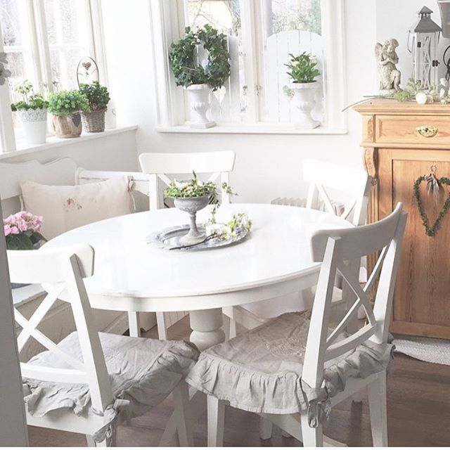 salle manger style shabby chic http www m. Black Bedroom Furniture Sets. Home Design Ideas