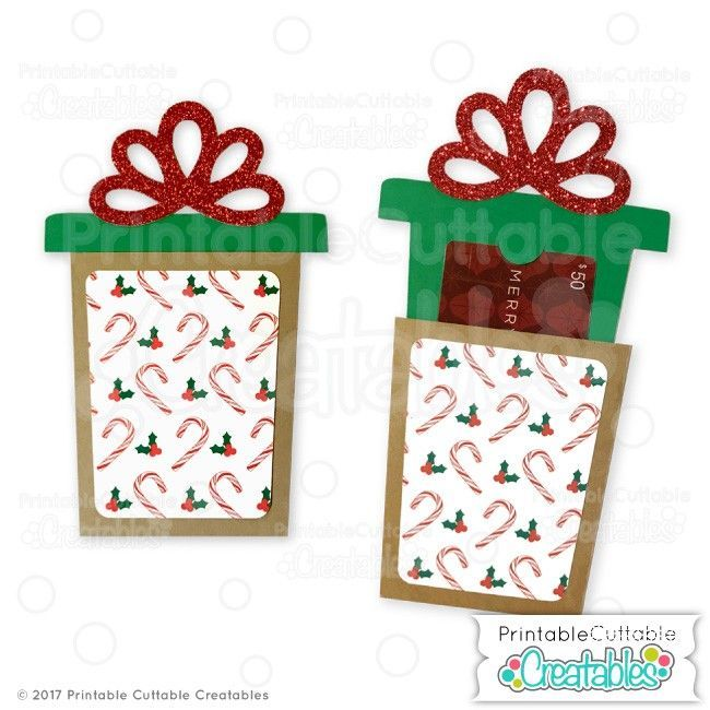 Christmas Present Gift Card Holder Svg File For Silhouette