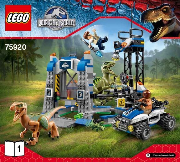 LEGO Raptor Escape Instructions 75920, Jurassic World