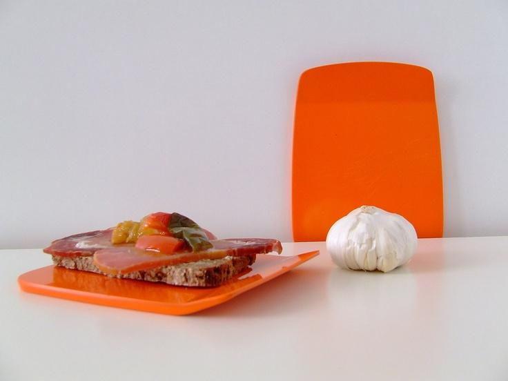 Rosti Denmark Sandwich Plate - Orange Side Plate - Copenhagen by Bjorn Christensen - B 120.