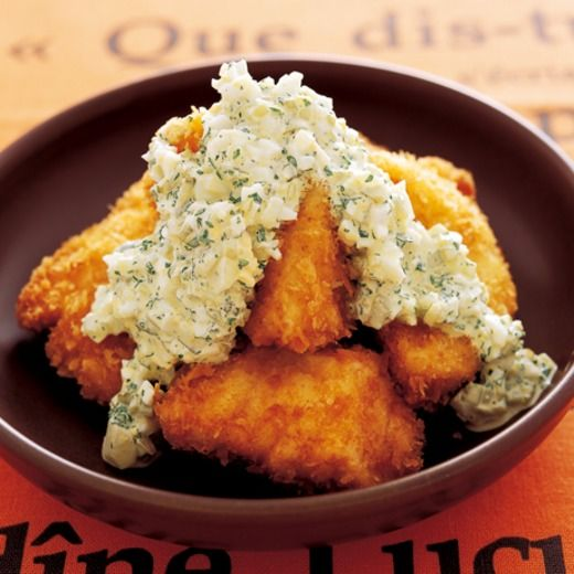 白身魚のフライ タルタルソースがけ