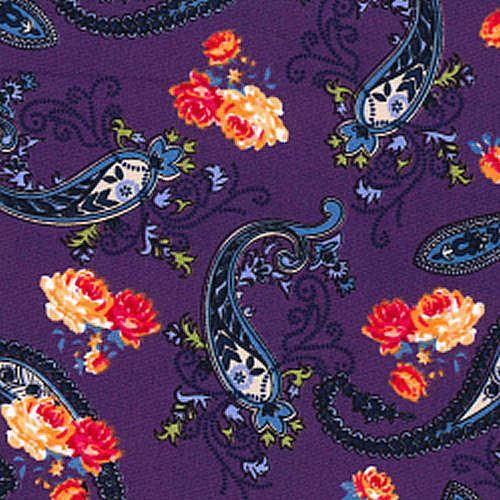 100-Cotton-Poplin-Dress-Fabric-Material-Paisley-Pattern-44-112cm