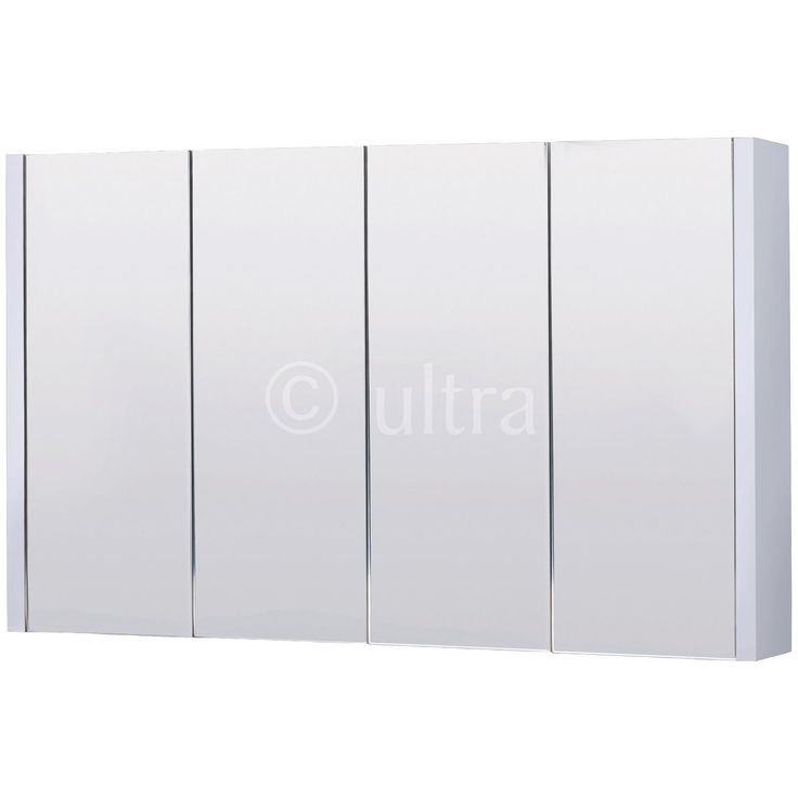 Ultra Lux 4 Door Mirror Cabinet Next Day Delivery