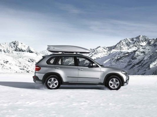 Bmw x5 e70 aerodynamic package snow chains roof box for Mercedes benz snow chains