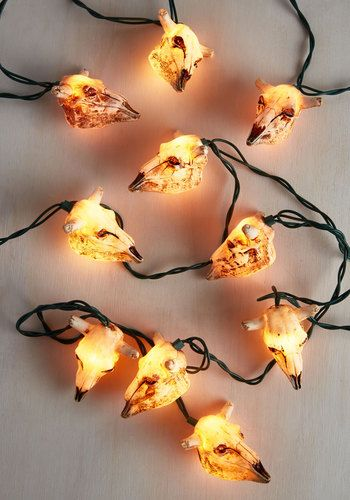 There's no need to think 'longhorn' and hard about these skull party lights - once you see their delightfully macabre silhouettes fully illuminated, you'll know their edgy, southwestern-inspired aesthetic is just what your favorite space has been craving!