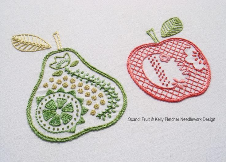Scandi Fruit, a Scandinavian-style hand embroidery pattern