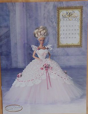 Annie's Attic Fashion Bed Doll Crochet Pattern Royal Ballgown 1997 Miss February