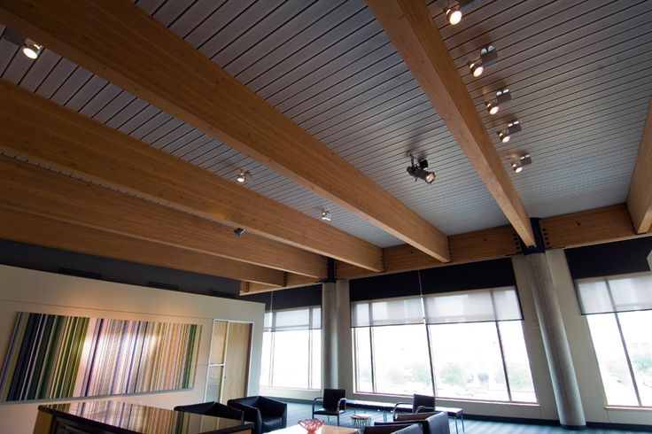 Roof deck ceiling system by epicore glulam it for Balcony ceiling