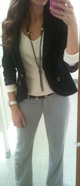 Grey & black. Love this outfit