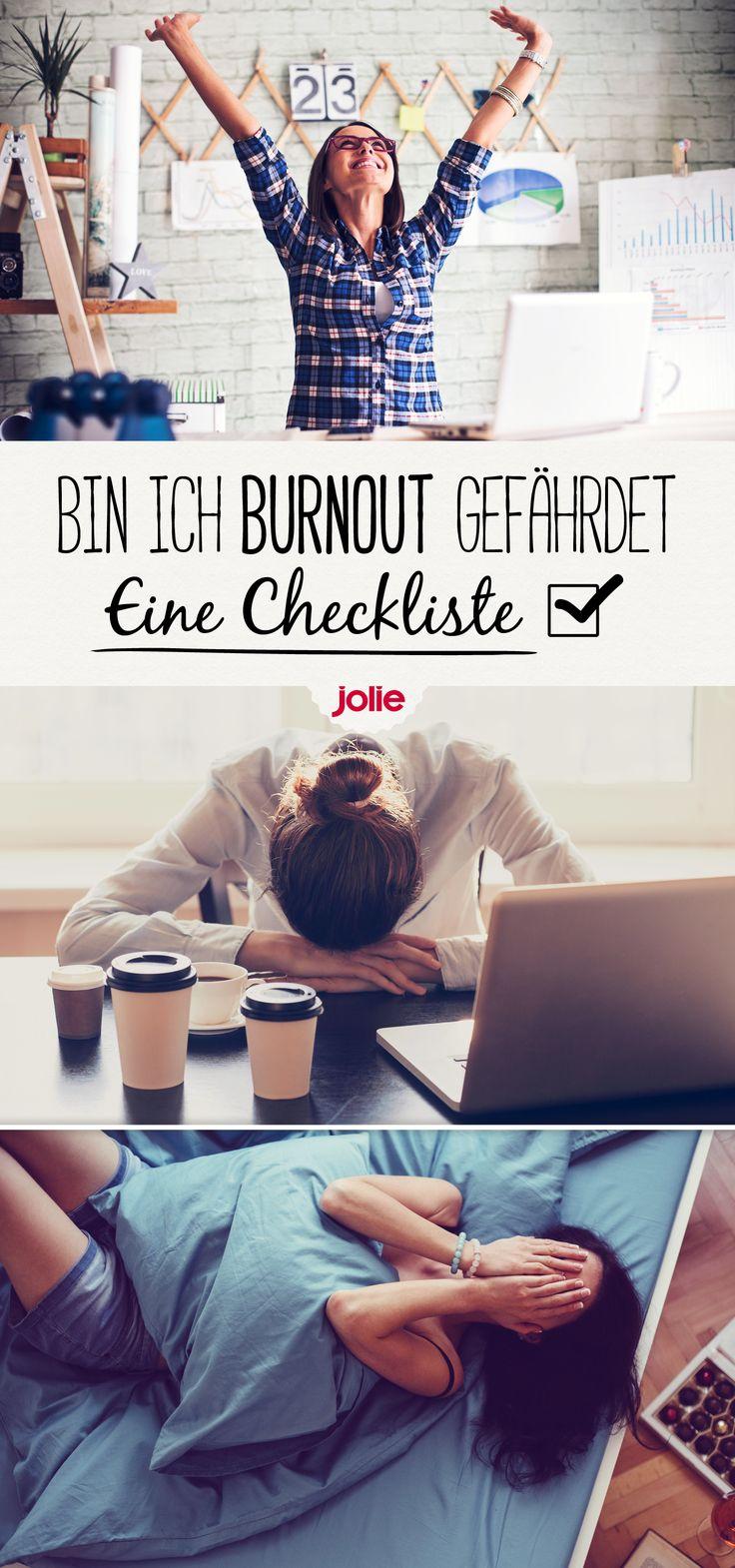Diese Checkliste zeigt die frühesten Symptome und Vorzeichen eines Burnouts