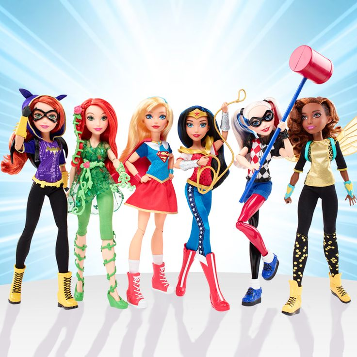 DC Super Hero Girls Dolls (set of 6) Pre-Sale