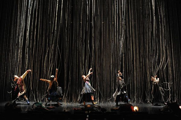 """SCENOGRAPHY FOR CONTEMORARY DANCE / """"ZONE - nomadic""""  ZONE was a collaboration between the Japanese National Theatre and Noism in the spring of 2009. The concept of a 'ZONE of professions' was established by artistic director Jo Kanamori and was presented in three pieces called 'academic / nomadic / physic'."""
