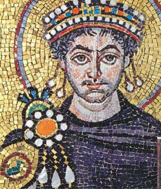 Beautiful depiction of mosaic art. The brooch, which is like a piece of jewelry, was used to hold the Paludamentum in place. In the Roman cultures booches are called fibula, which are like decorative safety pins used to hold their garments together.