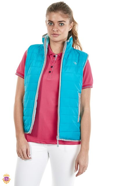 Sherwood Forest Hartwell Gilet SF-LBW-2933 Reversible Gilet - SF embroidery to chest, fake down wadding, leightweight. Colours : Glacier grey, dark navy, lake blue