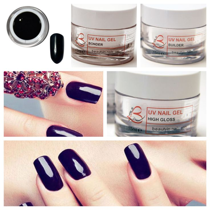 Perfect Black, gel color, B in Nails http://www.beautyin-nails.com/product