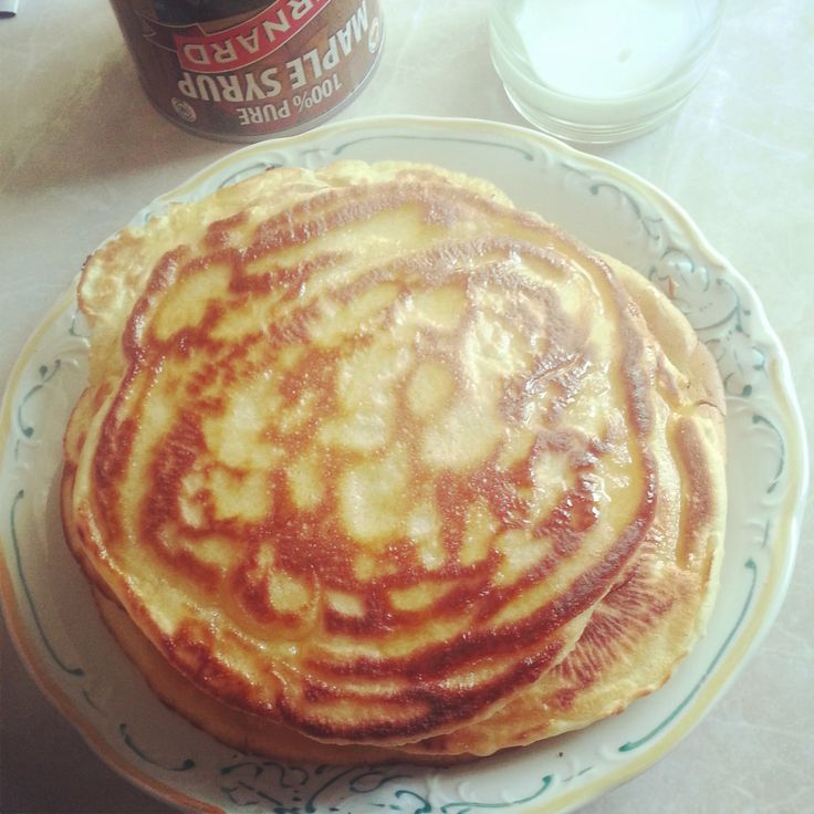 #pancakes #maple #syrup #milk #lovely #breakfast