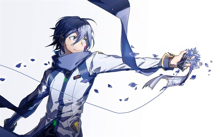 Download wallpapers Kaito, 4k, manga, anime characters, Vocaloid