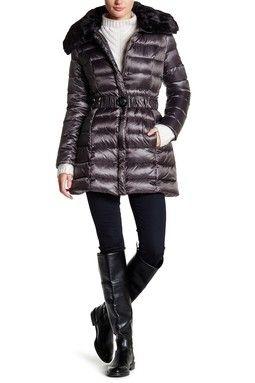 Gabbi Faux Fur Trim Down Jacket