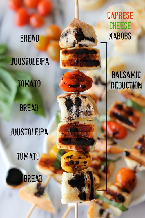 Caprese Cheese Kabobs with Balsamic Reduction from Damn Delicious