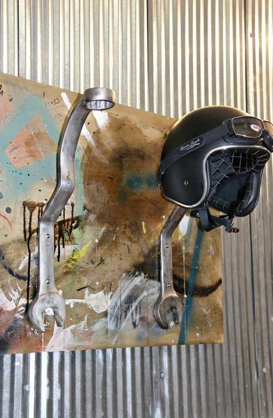 Motorcycle Helmet Rack