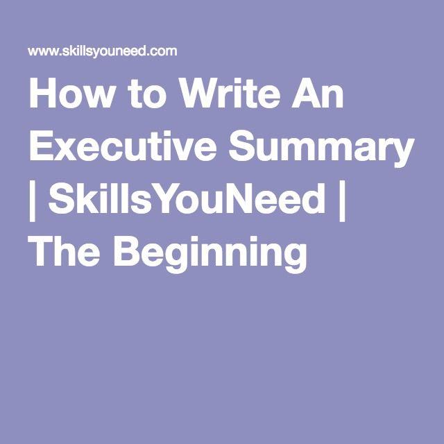 1000 ideas about executive summary on