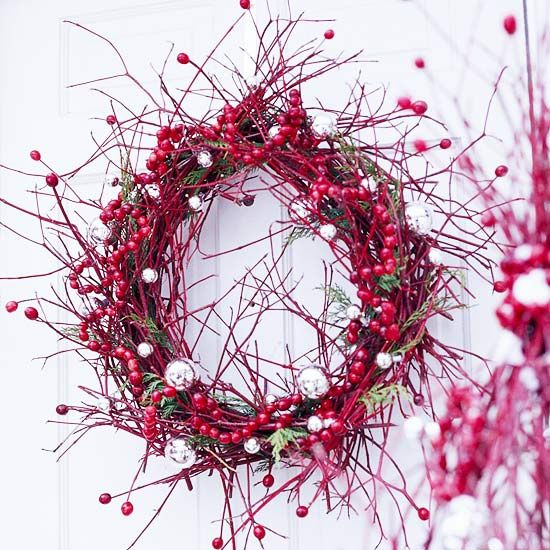 Wild Berry WreathChristmaswreaths, Christmas Wreaths, Decor Ideas, Front Doors, Wreaths Ideas, Christmas Decor, Twig Wreaths, Christmas Ideas, Winter Wreaths