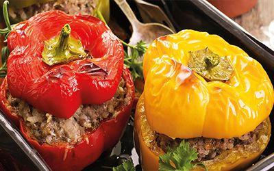 Stuffed Tomatoes & Peppers