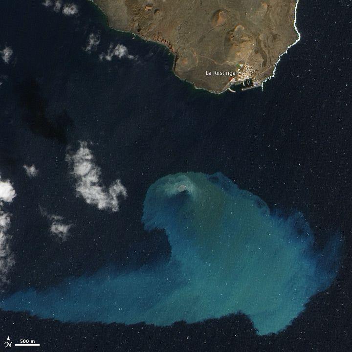 Eruption off El Hierro Island, one of the Canary Islands, on Feb. 10, 2012.