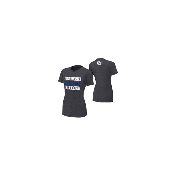 """Dean Ambrose """"Unstable Advisory"""" Women's T-Shirt ❤ liked on Polyvore featuring tops, t-shirts, classic fit shirt, cotton tee, shirt top, tee-shirt and classic fit t shirt"""