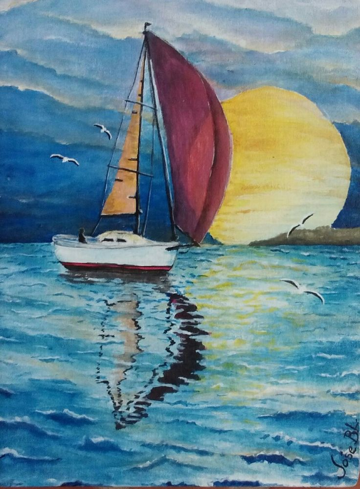 """ Homecoming "" Acrylic on canvas 30x22 cm Author: José M. Blanco Lorenzo"