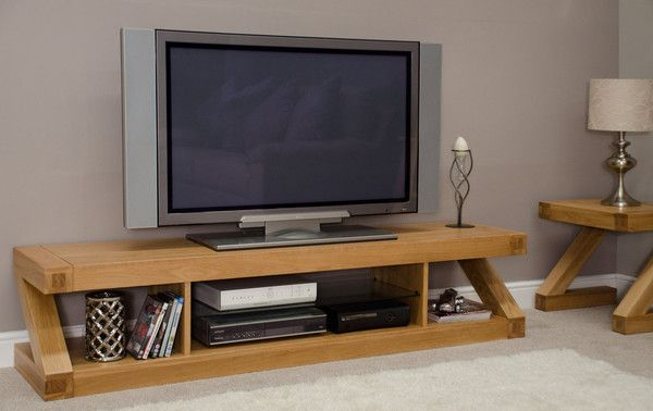 Amelie Oak Large Plasma TV Unit