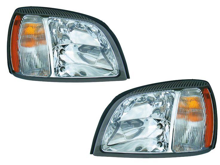 2003-2005 Cadillac Deville Halogen Headlight Set w/Xenons: 2003-2005 Cadillac Deville Halogen Headlight Set… #CarHeadlights #AutoHeadlights