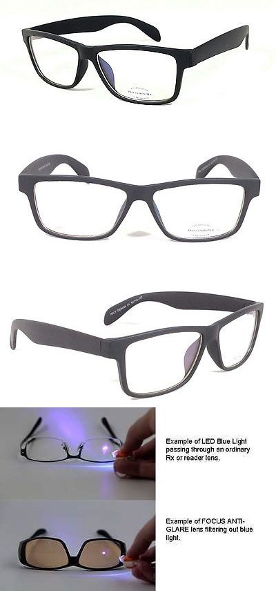 fdf985305111d Accessories 179245  Focus Anti-Glare Computer Glasses Reduce Blue Light  Modern Square Matte Black -  BUY IT NOW ONLY   13.99 on eBay!