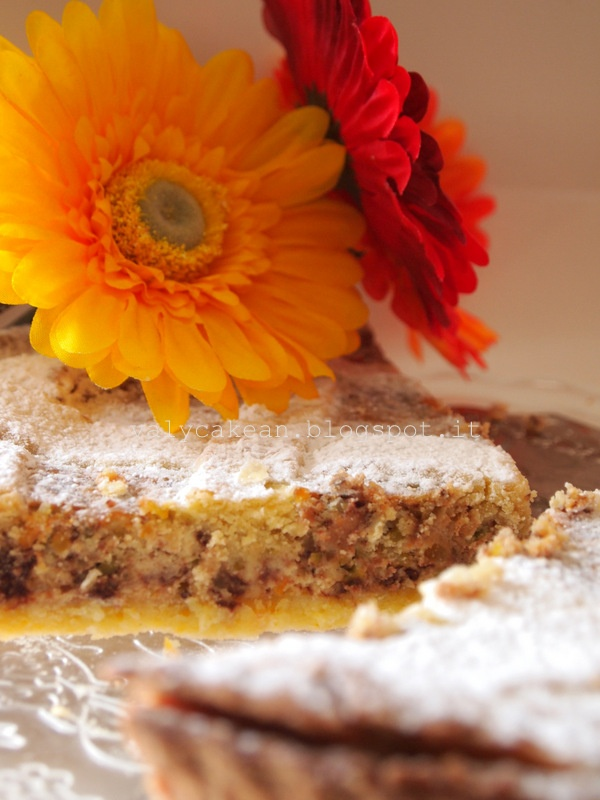 My Ricotta Cheese cake- pistaches, chocolate and orange adorable! http://valycakeand.blogspot.it/2013/03/torta-o-pizza.html